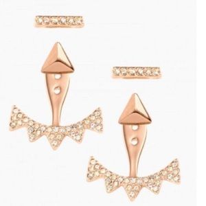 Stella & Dot Jewelry - :: S&D🌹⚜️RoseGold Pavé 6-in-1 Ear Jacket Earrings